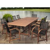 Zuzana International Home Outdoor 11 Piece Dining Set