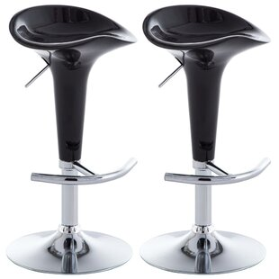 Grillo Height Adjustable Bar Stool (Set Of 2) By Wade Logan