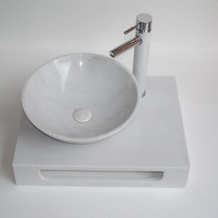 Inexpensive Grail Marble 10 Wall-Mount Bathroom Sink with Overflow By Eviva