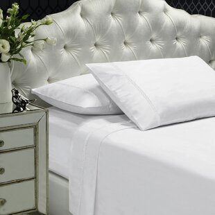 Alcott Hill Coeur Embellished 400 Thread Count 100% Cotton Sheet Set