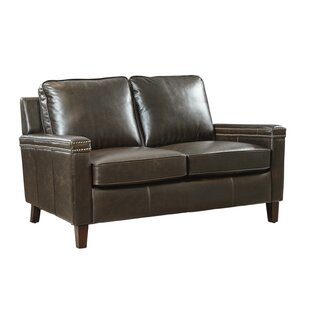 Best Price Hahira Leather Loveseat by Three Posts Reviews (2019) & Buyer's Guide