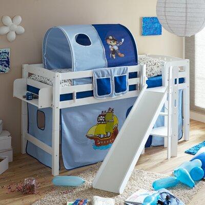 Hochbett Tricia mit Vorhang  90 x 200 cm   Kinderzimmer > Kinderbetten > Hochbetten   Baumwolle   Roomie Kidz