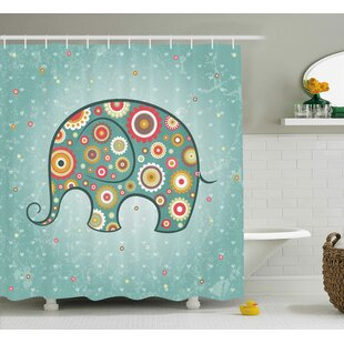 Elephant Shower Curtain By East Urban Home