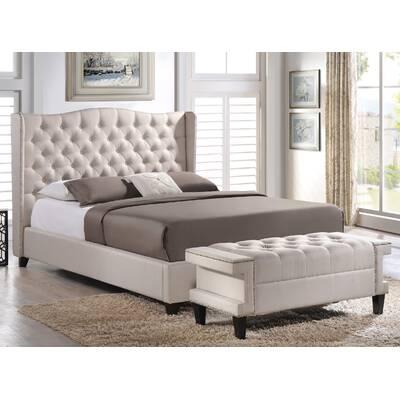 Licata Upholstered Platform Bed And Bench Set
