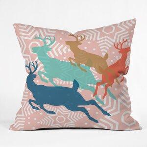 Dashing Through The Snow Serene Indoor/Outdoor Throw Pillow