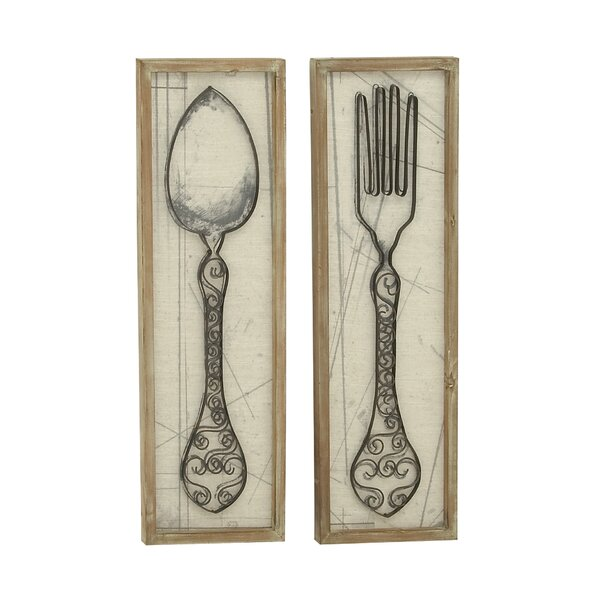 August Grove Superior Spoon And Fork Wall Décor Set U0026 Reviews | Wayfair