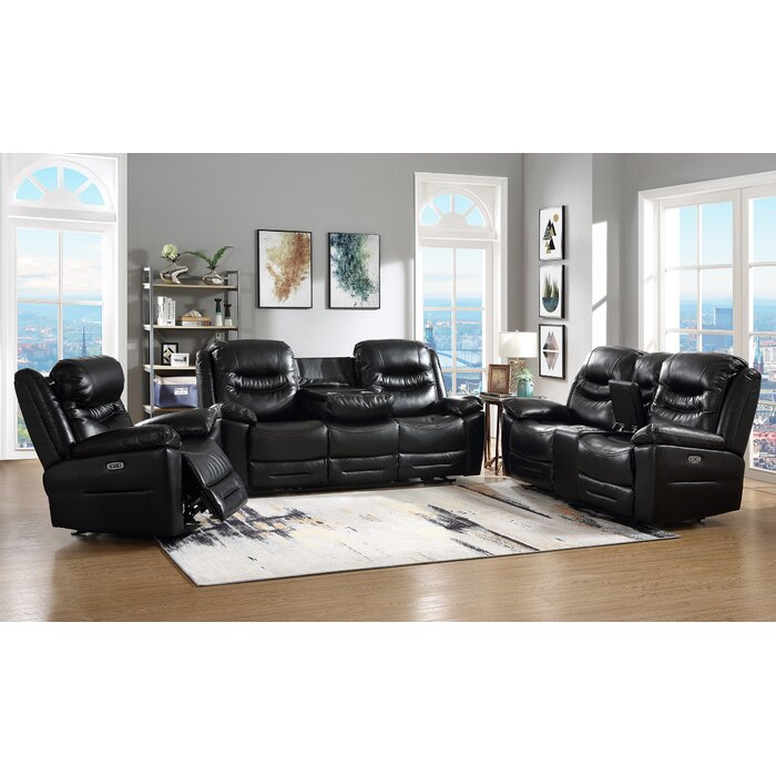 Superb Howth Leather Reclining Sofa Pabps2019 Chair Design Images Pabps2019Com