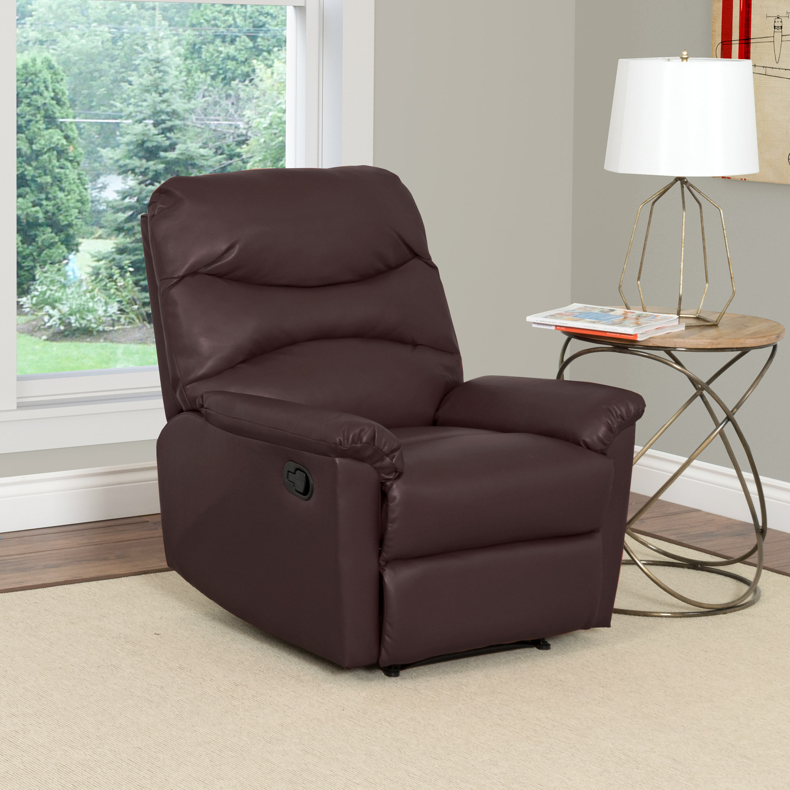 Red Barrel Studio Sexton Faux Leather Manual Recliner With Massage Reviews Wayfair Ca
