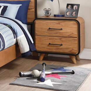 Carnamaddy 2 Drawer Nightstand