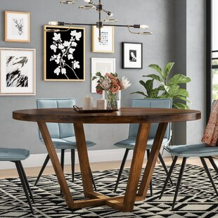 Macarthur Solid Wood Dining Table Ivy Bronx