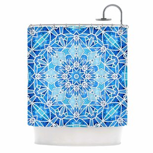 Star Snowflake by Art Love Passion Single Shower Curtain