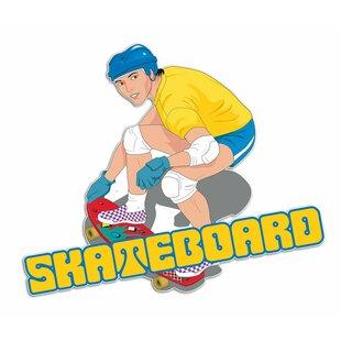 Skateboard, Skater Wall Sticker By East Urban Home