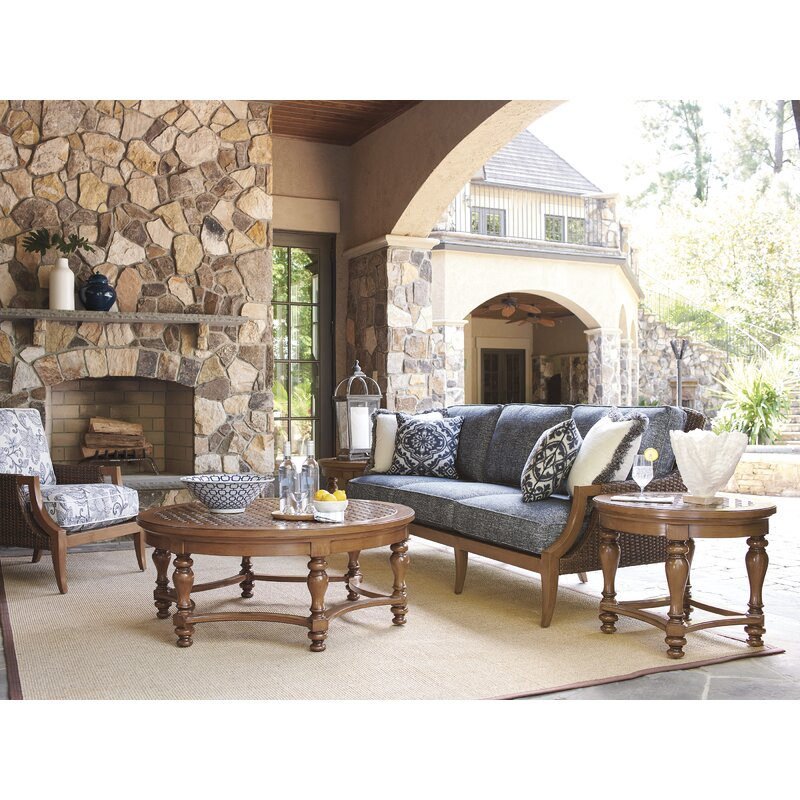 Tommy Bahama Outdoor Harbor Isle 5 Piece Deep Seating Group With Cushions Wayfair