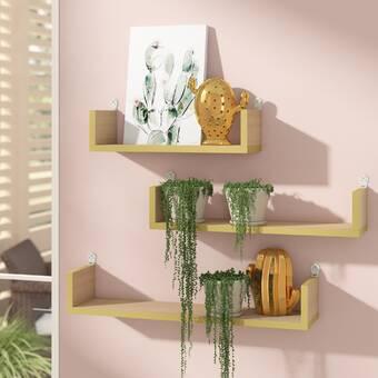 Tisbury Floating Home Decor Living Room Display Plants E Saver Wall Shelf