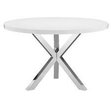 White Round Modern Dining Table modern round dining + kitchen tables | allmodern