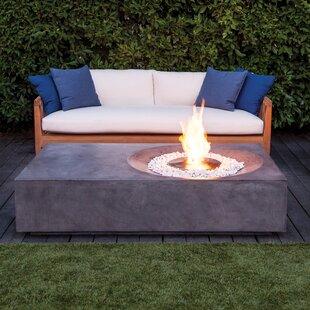 Brown Jordan Fires Equinox Concrete Gas Fire Pit Table