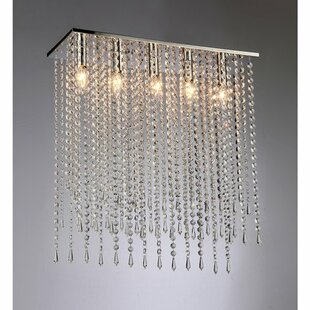 Orren Ellis Genaro 5-Light Crystal Chandelier
