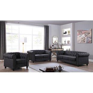 Audwin 3 Piece Living Room Set by House of Hampton