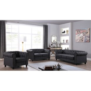 Best Reviews Audwin 3 Piece Living Room Set by House of Hampton Reviews (2019) & Buyer's Guide