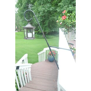 Starlite Garden and Patio Torche Co. Solar Lanter Clear Glass with Curl Top 1 Light LED Deck Step or Rail Light