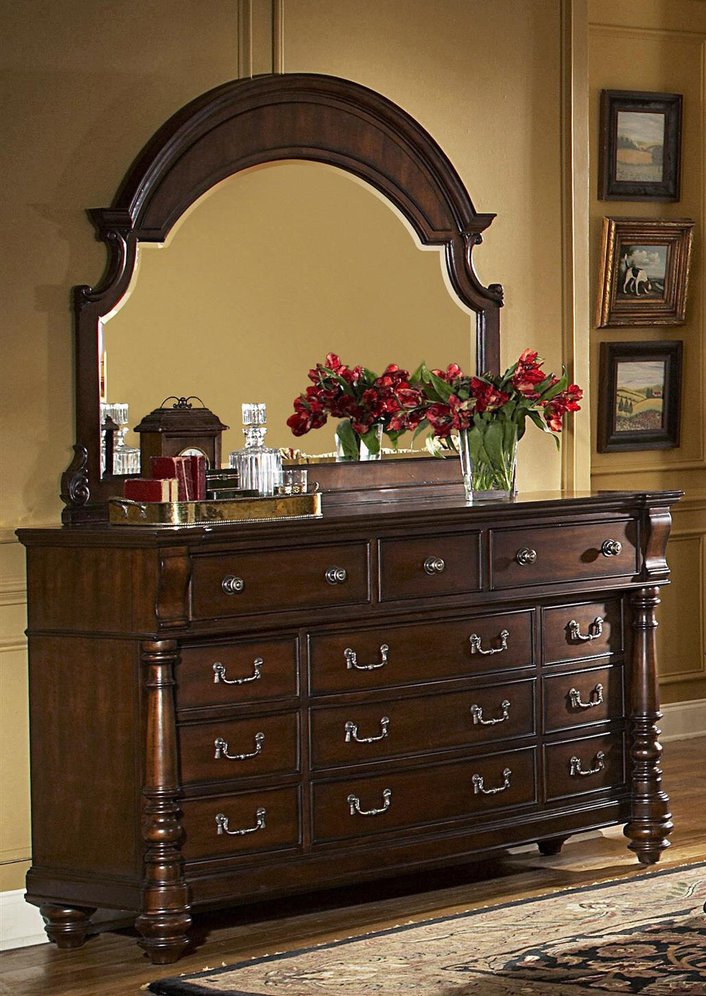 Fairfax Home Collections Bainbridge 12 Drawer Dresser With Mirror