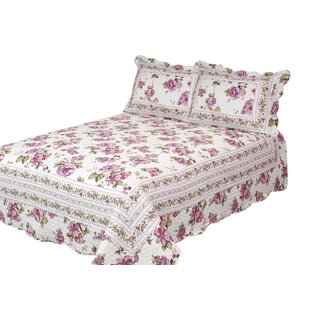 Patch Magic Blooming Peonies Quilt with Pillow Shams