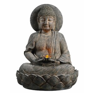 outdoor buddha zen fountain with led light