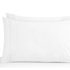 Lizzie 1800 Thread Count Pillow Case (Set of 2)