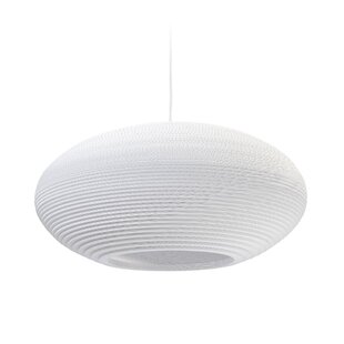 Scraplight Disc 1-Light Globe Pendant by GrayPants