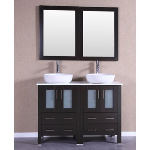 Premiere 47 Double Bathroom Vanity Set with Mirror by Bosconi