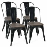 Petrosky Slat Back Stacking Side Chair (Set of 4) by Williston Forge