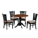 Sheri 5 Piece Drop Leaf Solid Wood Dining Set by Charlton Home®