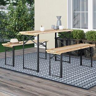 Segarra 3 Piece Picnic Bench Set By Sol 72 Outdoor