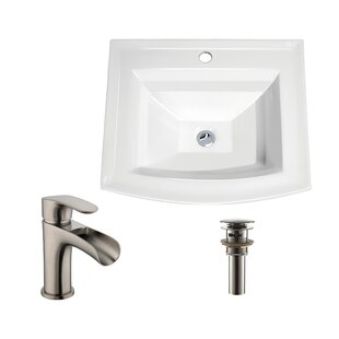Soleil Rectangular Drop-In Bathroom Sink Faucet