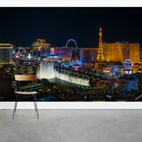 Las Vegas Strip 8' x 144 3 Piece Wall Mural by Wallums Wall Decor