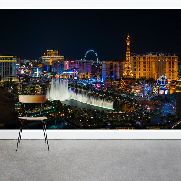 Photo Las Vegas Strip 8' x 144 3 Piece Wall Mural by Wallums Wall Decor