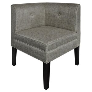 Baton Rouge Button Tufted Corner Linen Side Chair by Alcott Hill