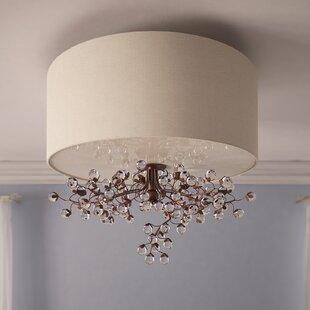 Davidson 3-Light Semi Flush Mount by Darby Home Co
