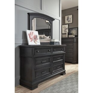Earley 6 Drawer Double Dresser with Mirror by Darby Home Co