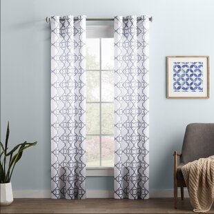 Wayfair Basics Trellis Semi Sheer Grommet Single Curtain Panel