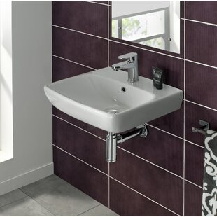 Energy Ceramic 20 Wall Mount Bathroom Sink with Overflow Bissonnet