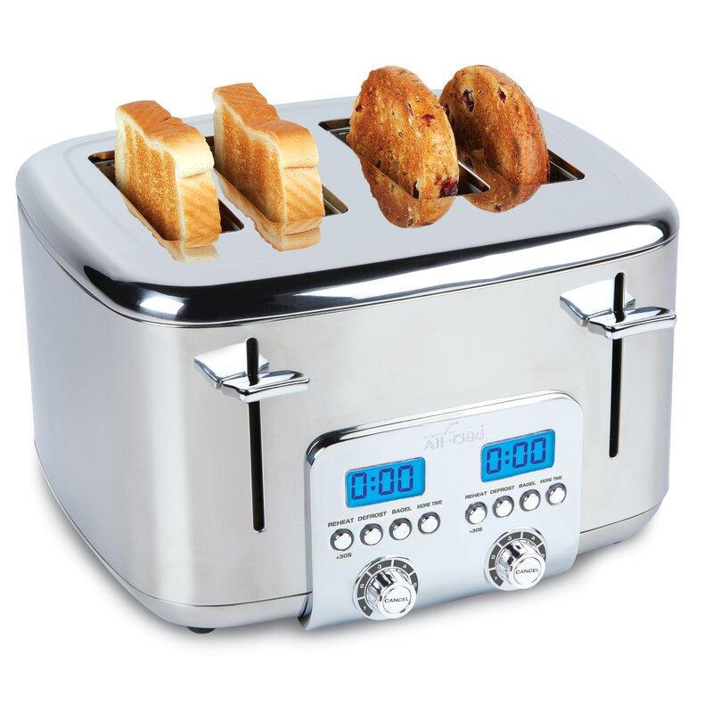All-Clad 4 Slice Digital Stainless Steel Toaster