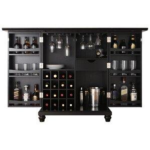 goreville bar cabinet with wine storage