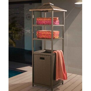 Sunjoy Mammoth Wicker Towel Valet