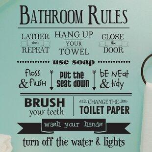 Bathroom Wall Quotes Bathroom Wall Decals Quotes | Wayfair Bathroom Wall Quotes