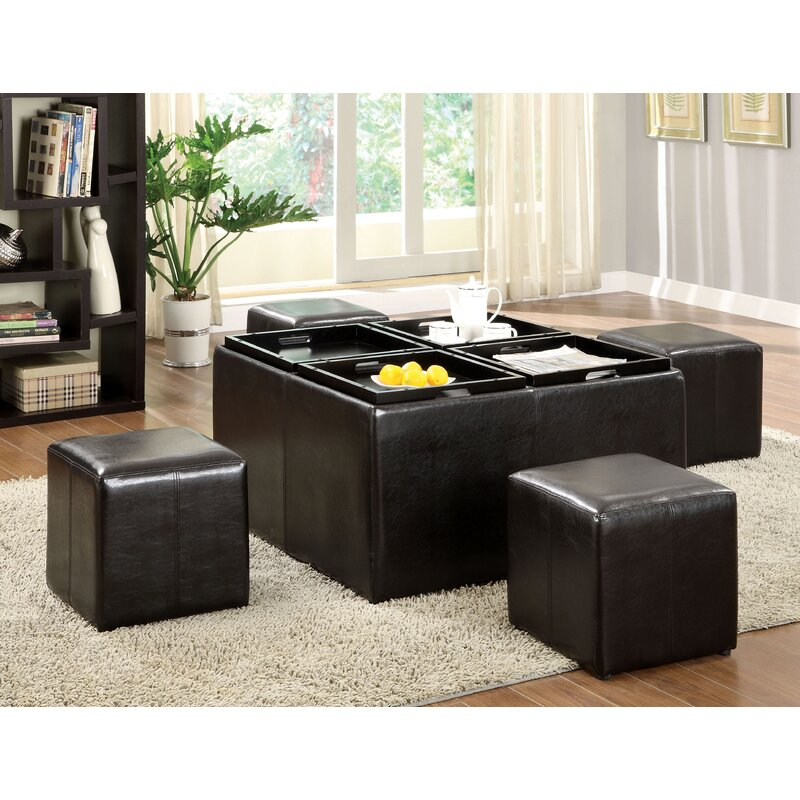 Turner 5 Piece Coffee Table Ottoman Set  sc 1 st  Wayfair : coffee table and ottoman set - pezcame.com