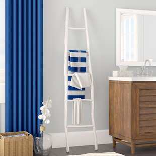 Painted Wood 6 ft Blanket Ladder by Beachcrest Home