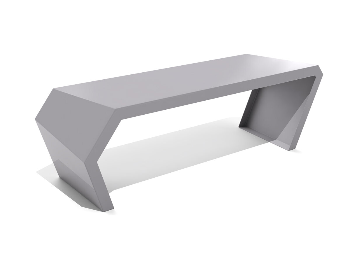 ribbed bench leisure furniture ft of style northgate thermoplastic steel picture or