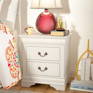 Tina Traditional 2 Drawer Nightstand