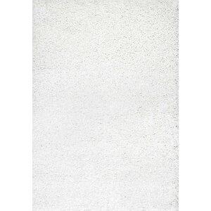 Welford White Shag Area Rug